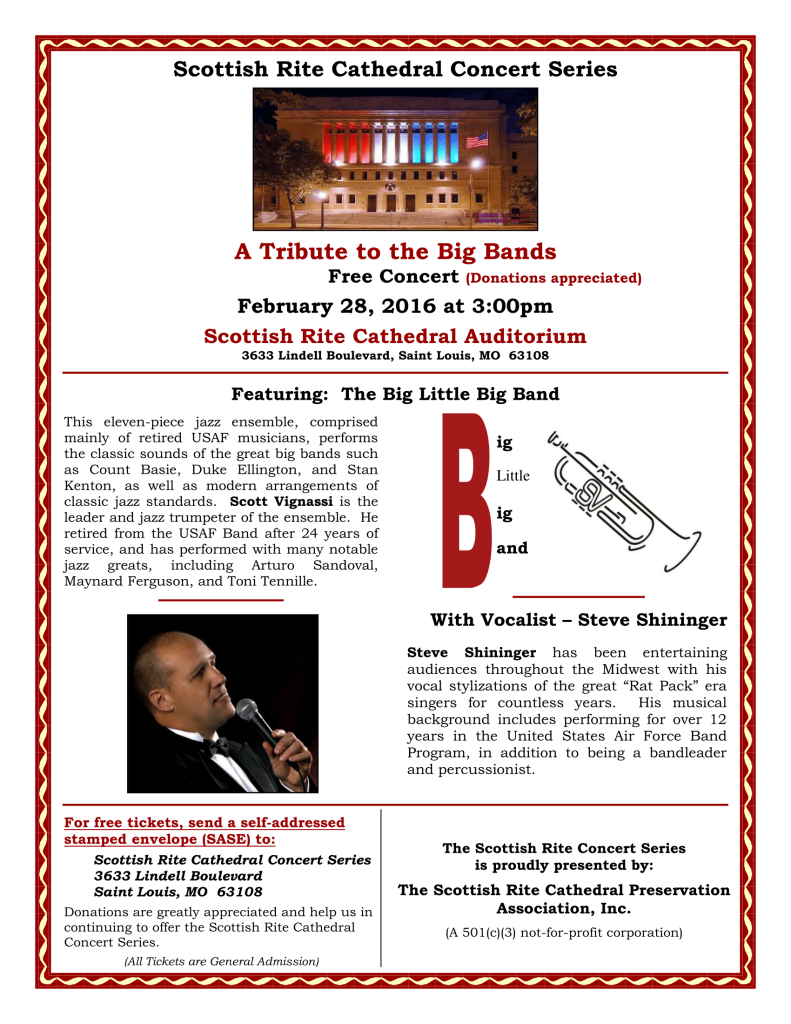 2016 Tribute to the Big Bands Concert Poster-1
